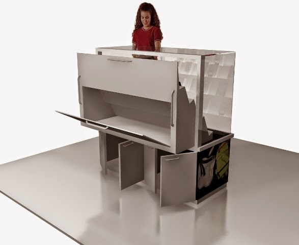 desain 3d Kiosk Produk Smartphone