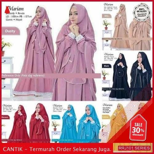 Jual RRJ101D78 Dress Muslim Syari Wanita Moscrepe Mariam Sk BMGShop