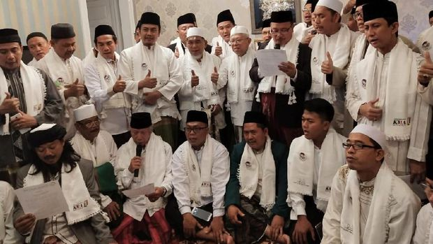 Para Ulama dari Jakarta Timur Deklarasi Dukungan ke KH Ma'ruf Amin