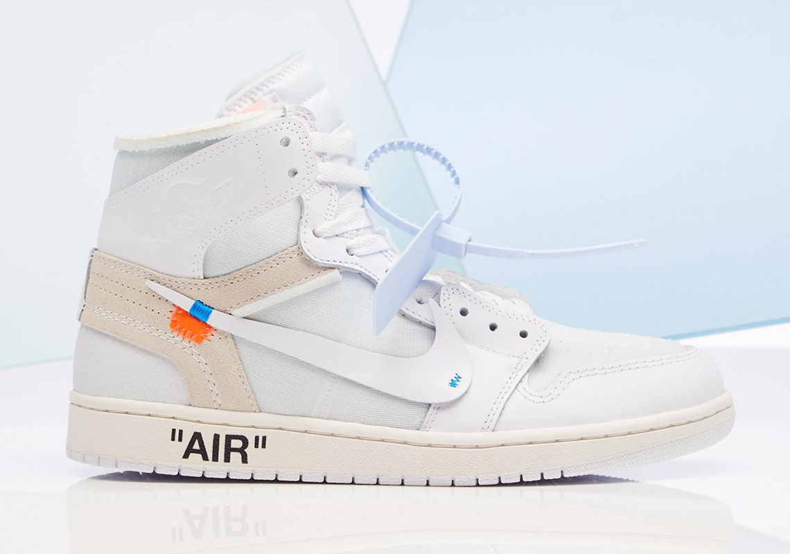 a46cec7e7b0210 The OFF WHITE x Air Jordan 1 in white is officially releasing on Saturday