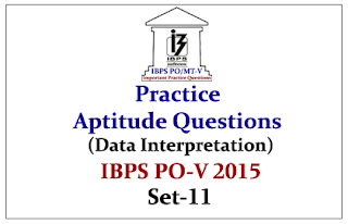 IBPS PO Mains 2015 - Practice Aptitude Questions (Data Interpretation) With Solutions