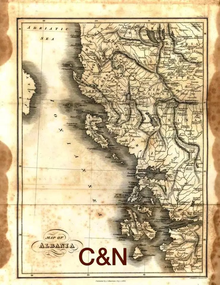British map of Ethnic Albania before Greece is fabricated
