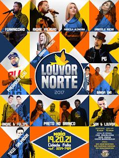 Atrações Oficiais do Louvor Norte 2017