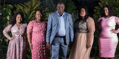 1a - Meet the 43-year-old South African man with 4 wives who wants other men to be polygamous (Photos)