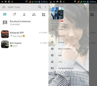 BBM MOD Light Transparan v3.0.1.25 APK Change Background Terbaru