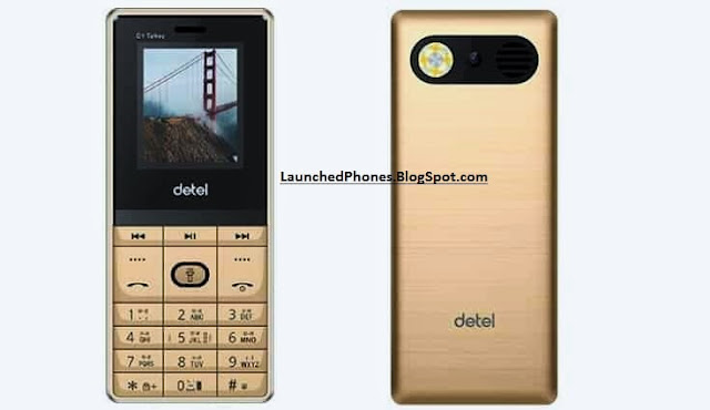 The Detel is known mobile build for their inexpensive characteristic phones Detel D1 talkey Launched at the toll of 10$