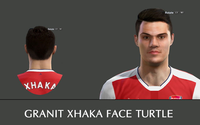 PES 2013 Granit Xhaka Face by Turtle Facemaker