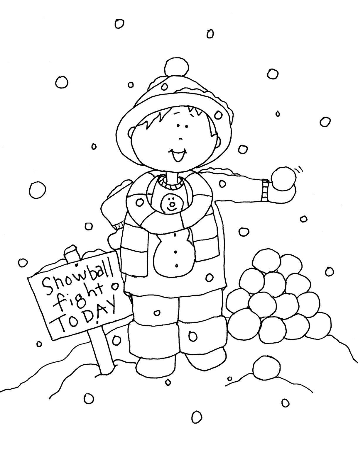 Free Dearie Dolls Digi Stamps Snowball Fight Today