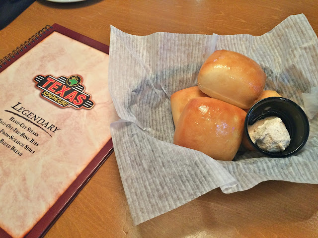 Freshly made hot buns with cinnamon butter - Texas Roadhouse, Sidra, Kuwait