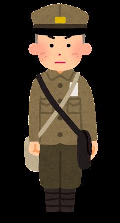 戦時中の男子学生のイラスト