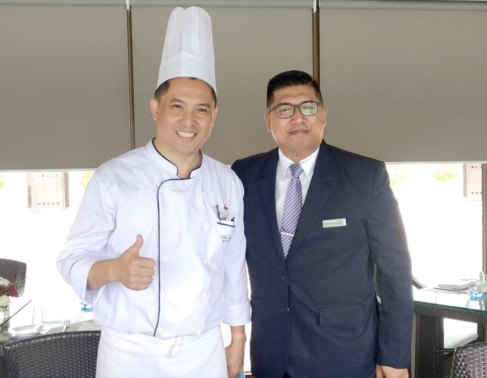 Chef Alex Destriza, Marco Polo Davao Executive Chef  (L)  Mr. Rene Gargallo, Marco Polo Davao Restaurant, Bar & Events (RBE) Manager