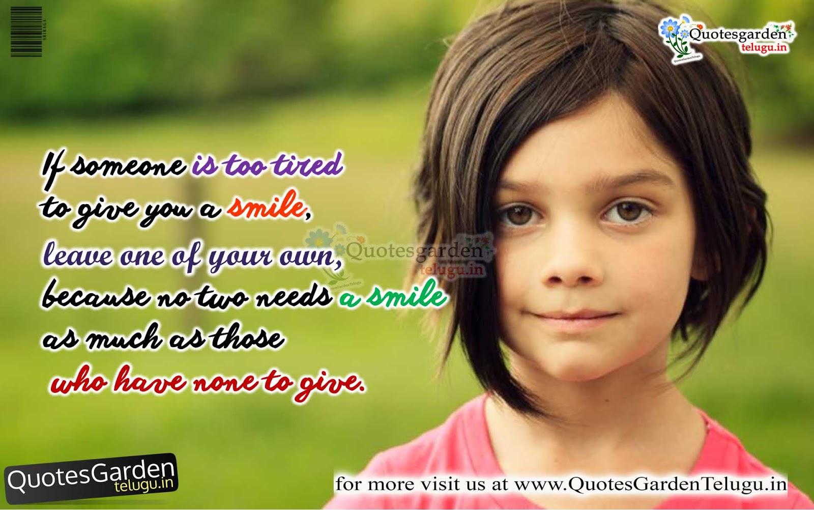 heart touching quotes on smile quotes garden telugu telugu