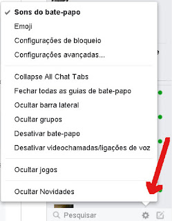 bate-papo do Facebook