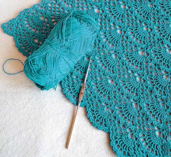 Crochet Yarn Online: Free Pattern knitting - Stitch Open Skies shells