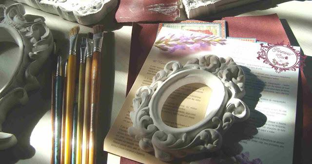 como pintar molduras provençais