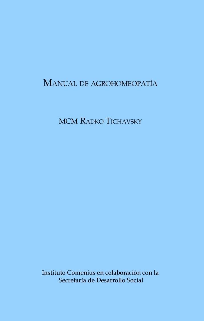 Manual de agrohomeopatía – MCM Radko Tichavsky