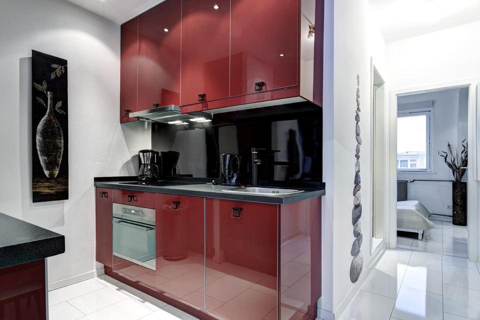 25 peque as cocinas para el sal n cocinas con estilo - Imagenes de cocinas pequenas para apartamentos ...