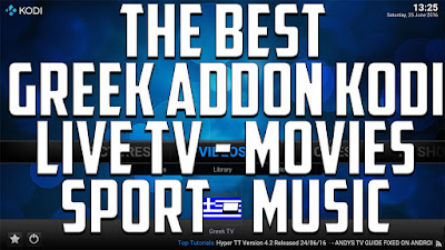 Install greek tv addon on kodi to watch greek and cyprus tv live channel