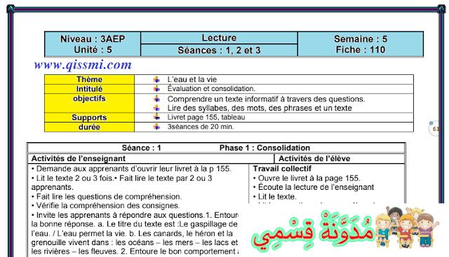 جذاذات المقرر كاملا اللغة الفرنسية mes apprentissages en français للمستوى الثالث ابتدائي