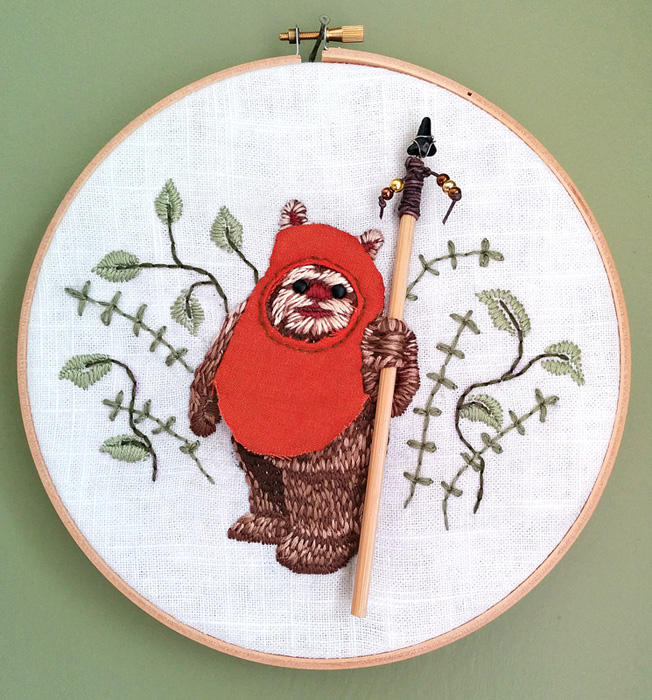 Nessy Designs Ewok Embroidery