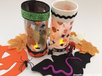 Halloween laminated lanterns