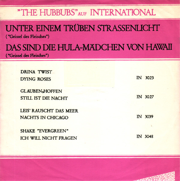 Musik von daham: HUBBUBS Discographie Teil 2: 1964 - 1965