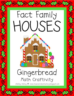 Math Worksheets gingerbread math worksheets : Common Worksheets » Fact Family House - Preschool and Kindergarten ...