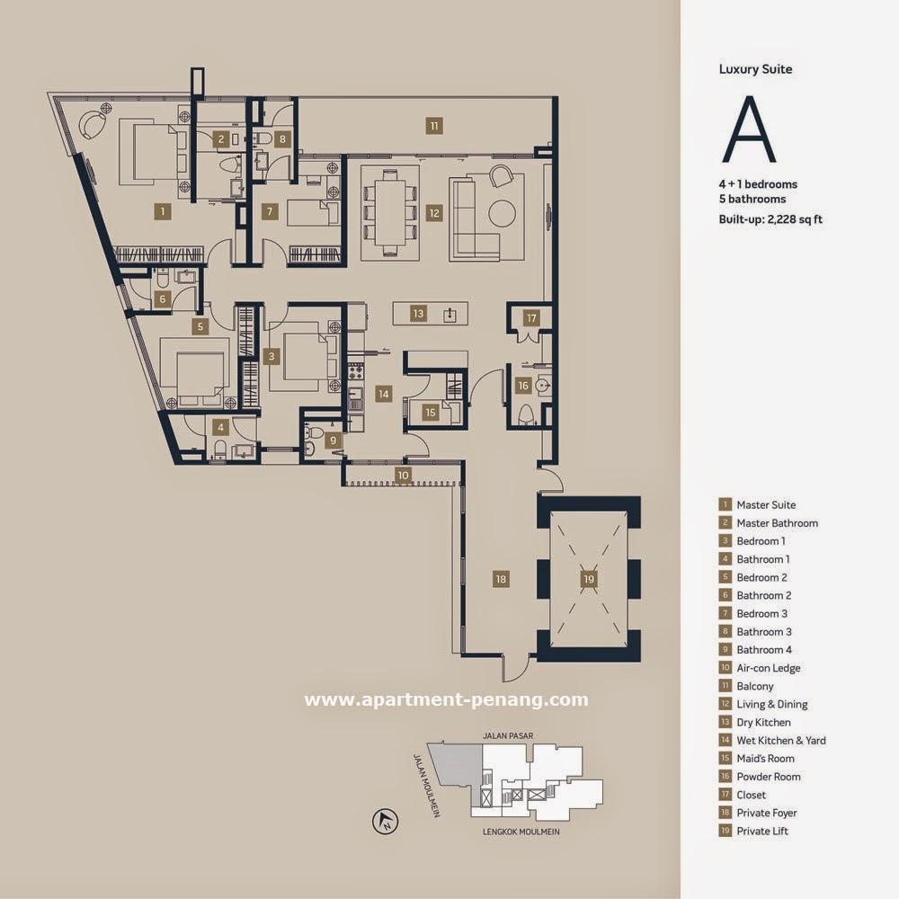 Moulmein Rise Apartment Penang Com