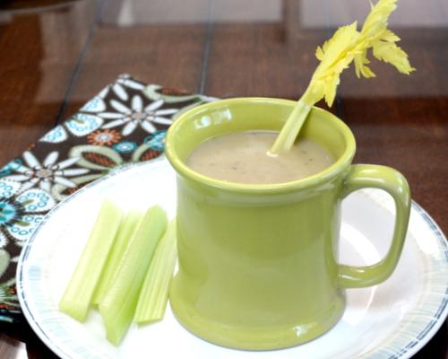 Cream of Celery Soup, another healthy soup ♥ A Veggie Venture