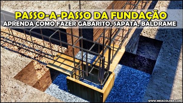 construção da fundação alicerce
