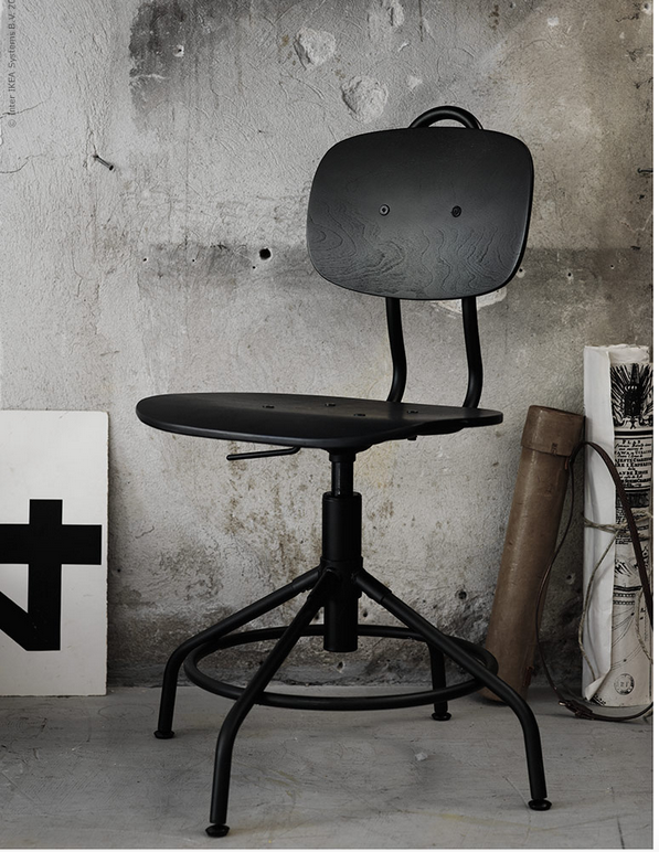 new industrial vintage style office chair at ikea poppytalk. Black Bedroom Furniture Sets. Home Design Ideas