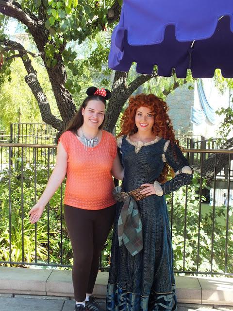 דיסני קליפורניה - מפגש עם הנסיכה מרידה מהסרט אמיצה
