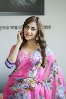 Actress Angela Krislinzki in Pink Saree Blouse Exclusive Pics March 2017 ~  103.JPG