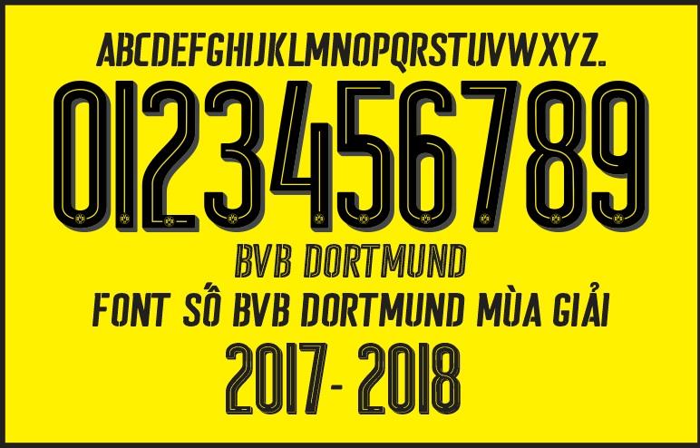 Font number football bvb dortmund