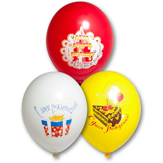воздушный шарик с тортом