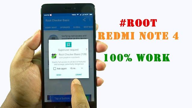 Cara Root dan Pasang TWRP di Redmi Note 4