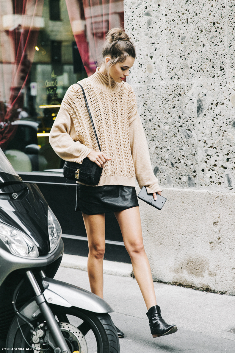 How to Wear a Sweater and a Skirt for Fall