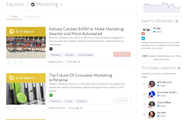 Complementos del Marketing Klout
