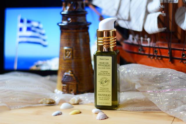 Olivolio olejek do włosów z filtrem UV