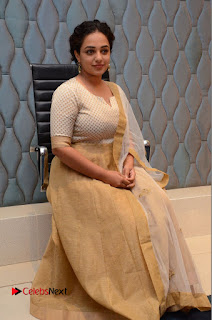 Actress Nithya Menen Pictures at 100 Days of Love Pre Release Press Meet  0183