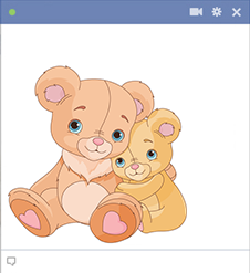 Two teddy bears emoticon