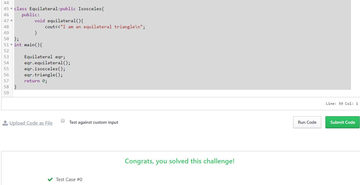 """Hacker Rank Solution Program In C++ For """" Multi Level Inheritance """""""