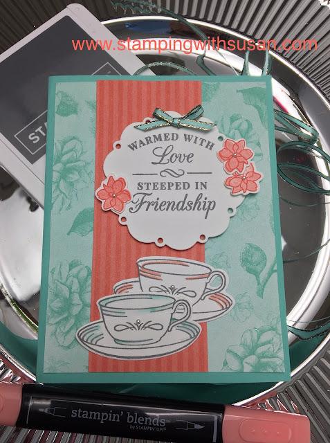 Stampin' Up!, Tea Room Suite, www.stampingwithsusan.com, Time For Tea Framelits Dies,
