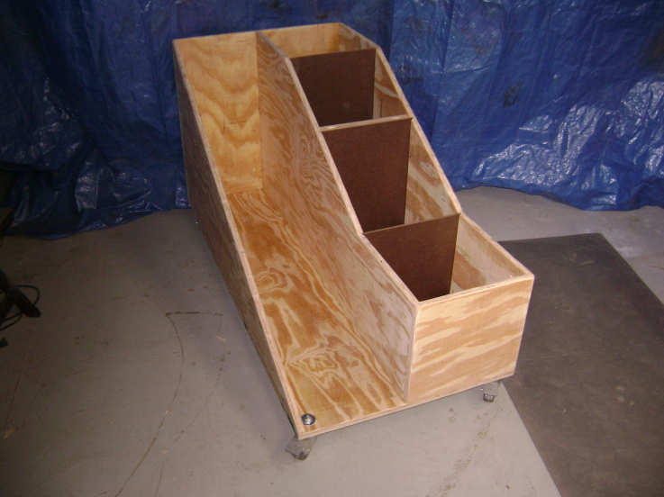 Wooden Rolling Cart To Store Wood Scraps. DIY ...