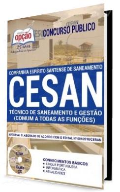 apostila cesan técnico de saneamento e gestão