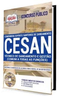 Apostila CESAN cargo Técnico de Saneamento