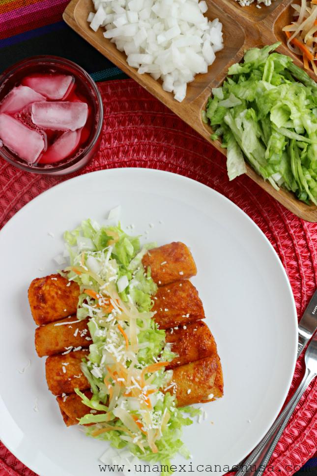 una mexicana en usa enchiladas rojas de pollo