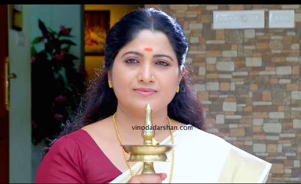Actress Sindhu Varma as Parvathy in Bhagyajathakam serial on Mazhavil Manorama