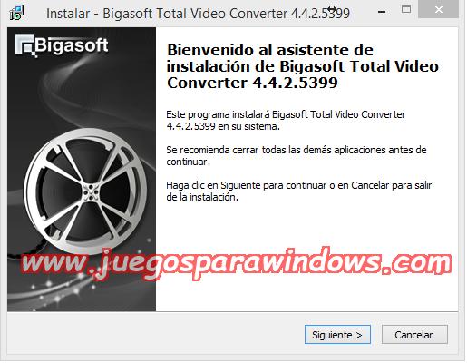 Bigasoft Total Video Converter v4.4.2.5399 Multilenguaje ESPAÑOL
