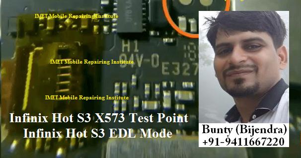 Infinix Hot S3 X573 Test Point   Infinix Hot S3 EDL Mode